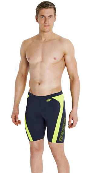 speedo Endurance+ Logo Graphic Splice Jammer Men oxid grey/lime punch